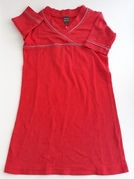 [16038] ROBE - INCONNU - 7-8 ANS - ROUGE