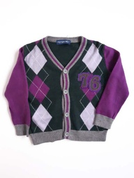 [202007648] Gilet - Cotton Belt - 18 mois - mauve