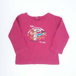 [202010292] T-shirt - Paul Frank - 9 mois - rose